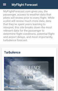 MyFlight Forecast screenshot for Android