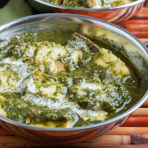 Palak Paneer (Indian Spinach with Cheese)
