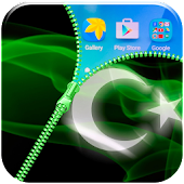 Pakistan Flag Zipper Lock App APK for Bluestacks