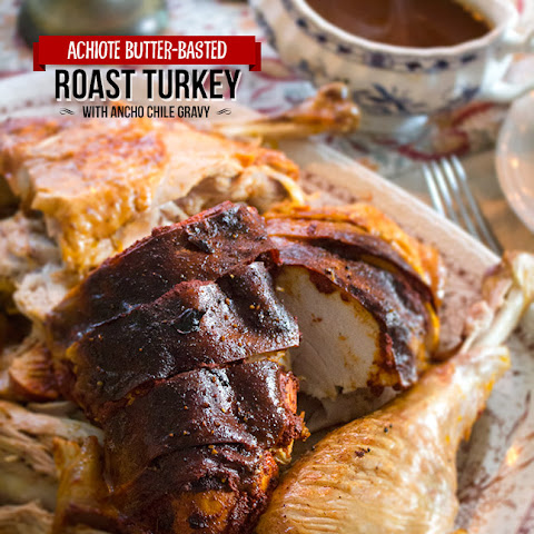 Achiote Butter-Basted Roast Turkey with Ancho Chile Gravy