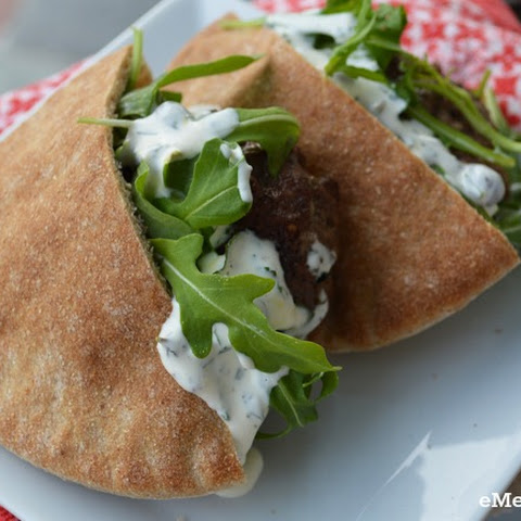 Clean Eating Lamb Burger Pitas