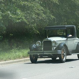 ROLLING NORTH ON HWY 52 NORTH  by Douglas Edgeworth - Transportation Automobiles