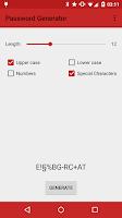 Screenshot of Password Generator