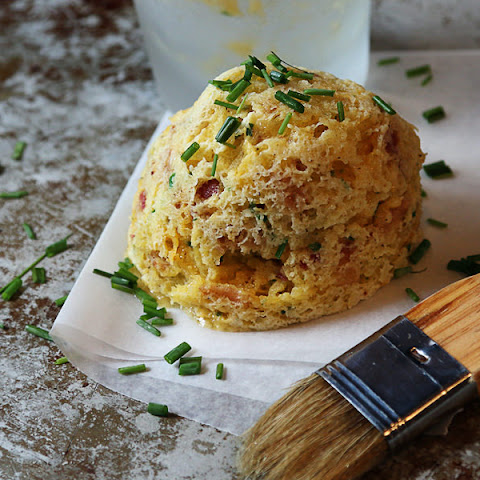 Bacon, Cheddar and Chive Mug Cake