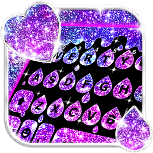 Galaxy Drop Heart Keyboard Theme For PC / Windows 7/8/10 / Mac – Free Download