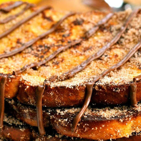 Cinnamon Sugar French Toast With Nutella Glaze