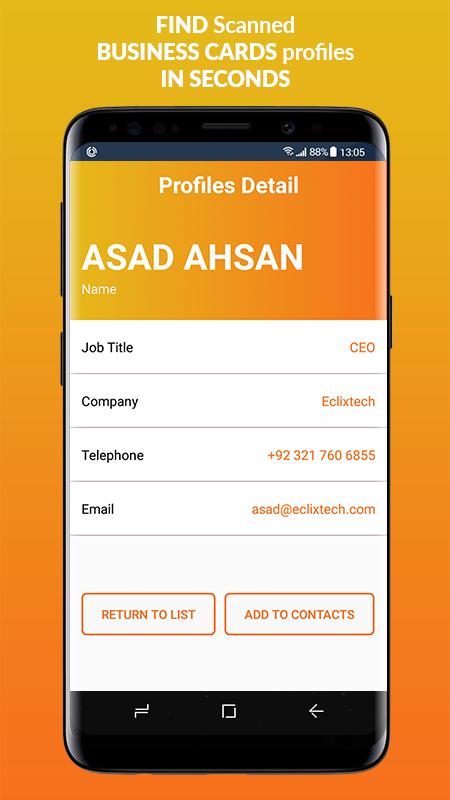 Business Card Scanner & Reader - Free Card Reader Screenshot 4