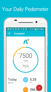 Accupedo+ Pedometer Fitness app screenshot for Android