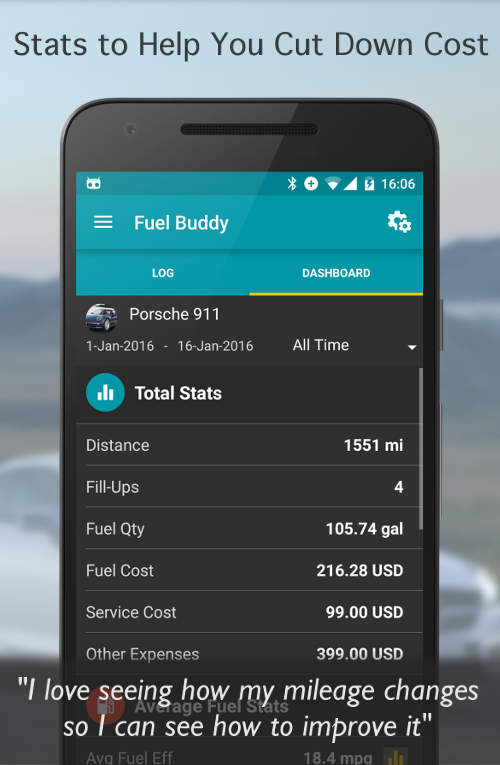 Fuel Buddy - Car Mileage Log Screenshot 1