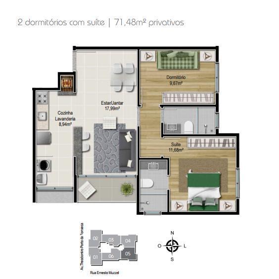 Planta 2 dormitórios - Final 5