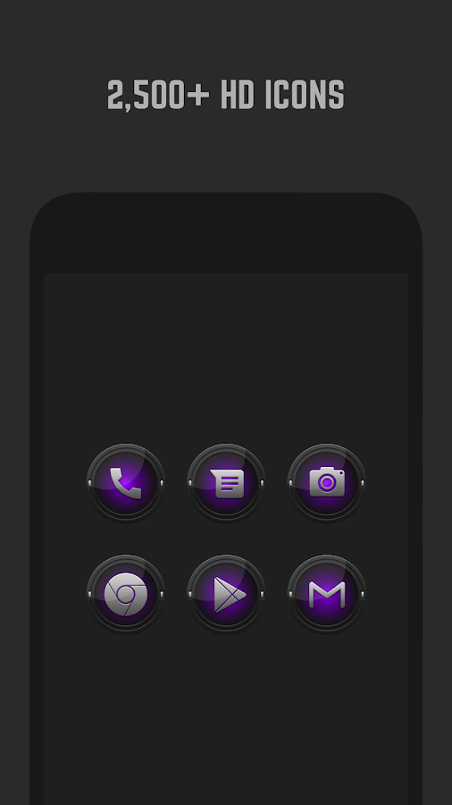 Black and Purple Icon Pack Screenshot 0