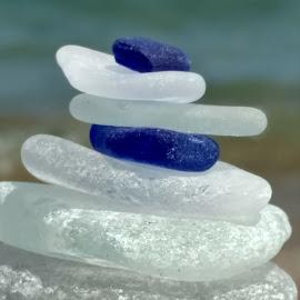 Beach Glass Zen by Nancy Tonkin - Artistic Objects Glass