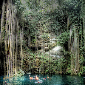 Cenote Sagrado Mexico by Jime Fernandez - Travel Locations Landmarks