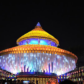 Pandal made with Chairs and drums by Kambala Rajesh - Artistic Objects Other Objects