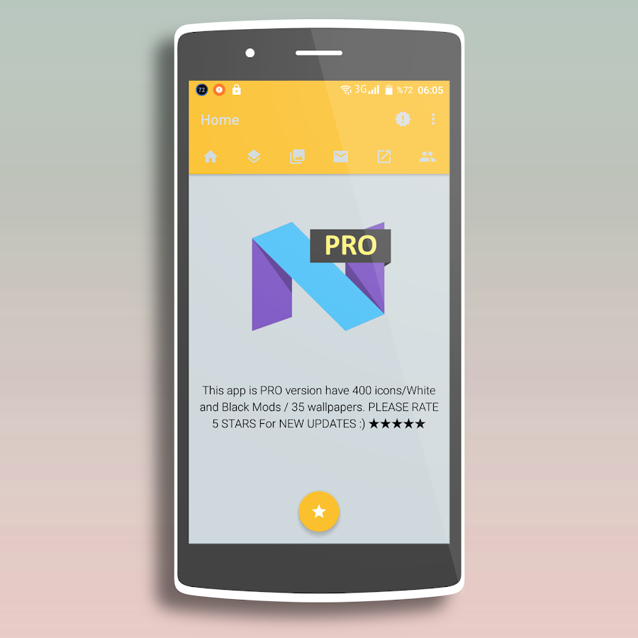 Nougat - Icon Pack PRO Screenshot 3