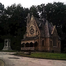 Chapel at Glendale by Christine B. - Buildings & Architecture Statues & Monuments ( ohio, cemetery, glendale cemetery, akron, monument, chapel,  )