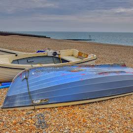 Fishing Boats by Michael Jenkinson Gay - Transportation Boats ( sea boat sand water fishing )