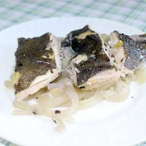 Steamed Plaice with Onion