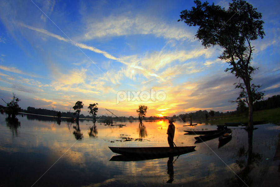 =SUNSET in my village= by Muhammad  Firdaus - City,  Street & Park  Vistas
