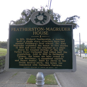 In 1831, Richard Featherston, a teacher, built a single story structure here and opened Vicksburg's first school. Dr. Alex Magruder expanded the house to two stories in 1850 and used the original as ...