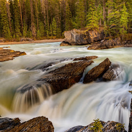 Emerald River by Joseph Law - Landscapes Waterscapes