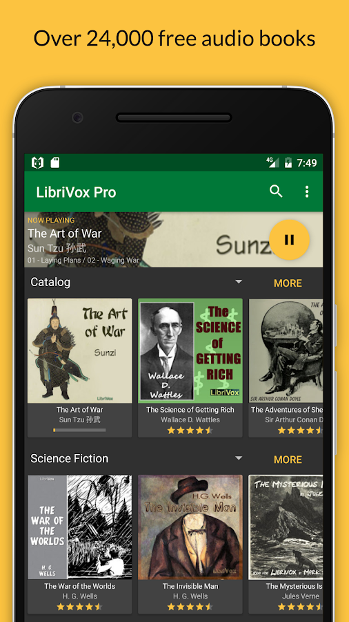 LibriVox Audio Books Supporter Screenshot