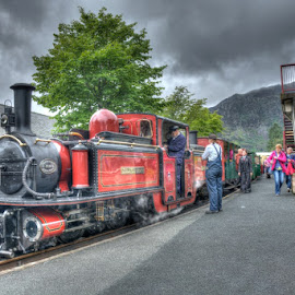 Ffestiniog Railway 'David Lloyd George' at Blaenau Ffestiniog Station by David Garnett - Transportation Trains ( ffestiniog railway, david lloyd george, wales, blaenau ffestiniog, narrow gauge, double fairlie, slate city )