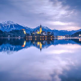 Bled in the morning.. by Mario Španjić - Landscapes Travel ( bled, lake )