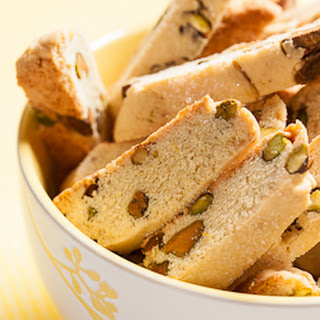 Mini Lemon Pistachio Biscotti