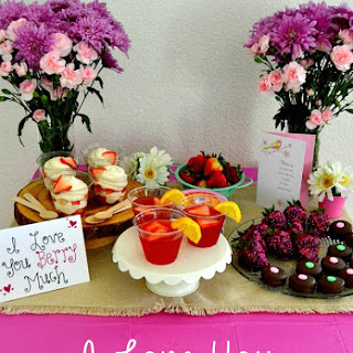 "No-Bake Strawberry Cheesecake Parfaits, Strawberry Lemonade, and An ""I Love You Berry Much"" Mother's Day Party!"