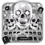 Silver Skull Keyboard Theme Icon
