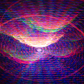 UFO landing out post by Jim Barton - Abstract Patterns ( laser light, light design, colorful, ufo landing out post, laser design, laser, ufo, laser light show, light, science )
