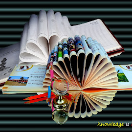 Knowledge... by Asif Bora - Typography Quotes & Sentences