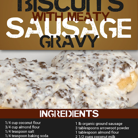 Paleo Biscuits with Sausage Gravy