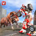 Free Super X Robot VS Angry Bull Attack Simulator APK for Windows 8
