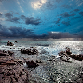 Blue by Greg Tennant - Landscapes Waterscapes ( ocean, clouds, sea )