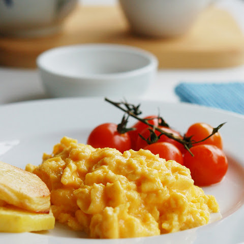 Scrambled Eggs with Roasted Tomatoes and Potatoes