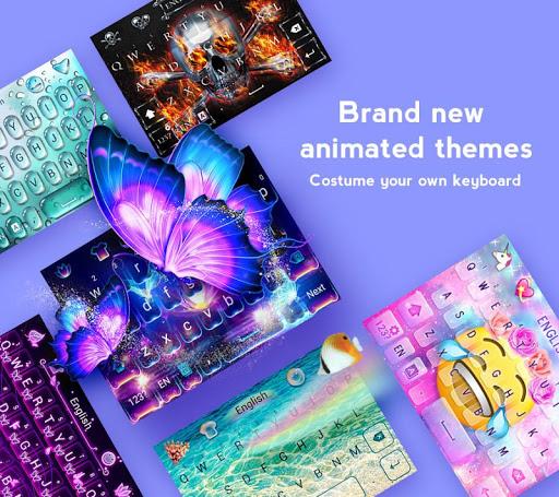 GO Keyboard - Cute Emojis, Themes and GIFs screenshot 1