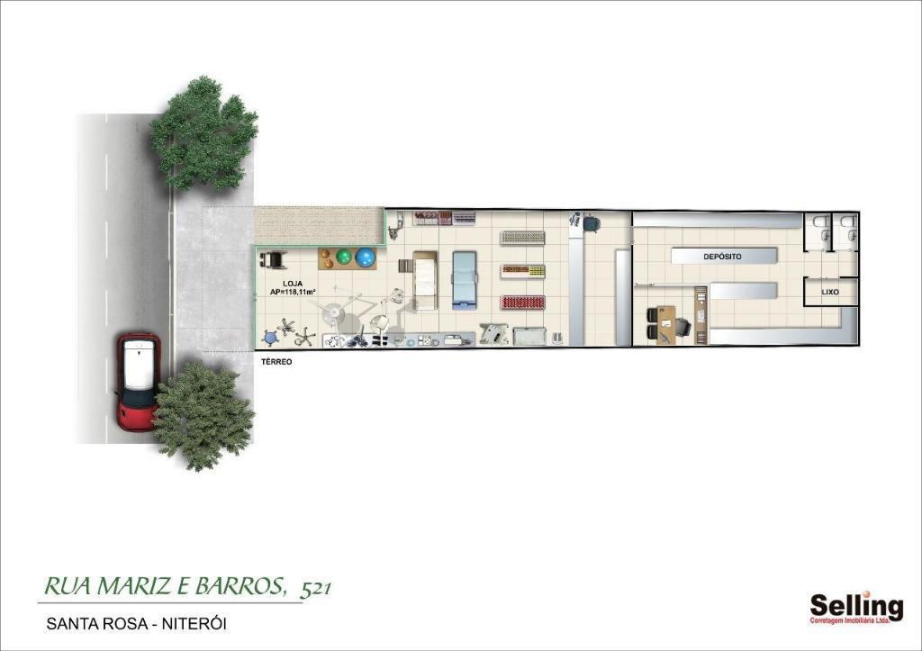Loja para alugar, 120 m²  - Jardim Icaraí - Niterói/RJ