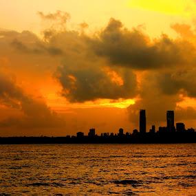 Mumbai Sky by Sudipta Mukhopadhyay - Landscapes Sunsets & Sunrises