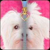 Cute Puppy Zipper Lockscreen 2018 APK for Bluestacks