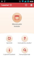 Screenshot of Menstrualni koledar Canesten