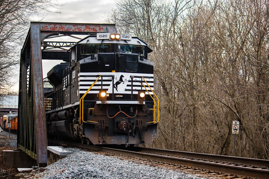 NS 1020 by Greg Booher - Transportation Trains ( 1020, norfolk southern, sd70ace )