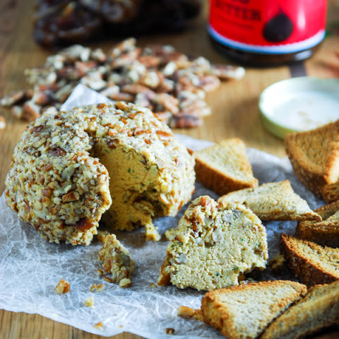 Smoked Paprika and Cheddar Vegan Cheese Ball
