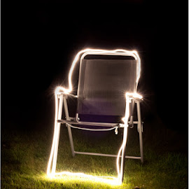 Electric Chair by Martyn Anderson - Abstract Light Painting ( chair, light )