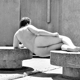Nude Across Stones by Steven Terry - Nudes & Boudoir Artistic Nude ( nude, naked, male, artistic, human body )