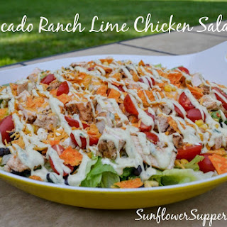 Avocado Ranch Lime Chicken Salad