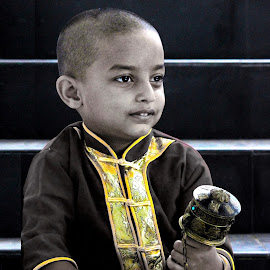 Amused at something else..! by Anoop Namboothiri - Babies & Children Children Candids ( prayer, happy, boy )