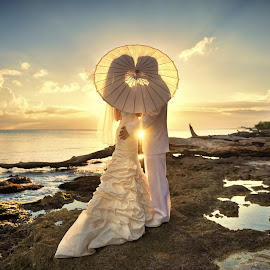 Sunset by Milan Vasovic - Wedding Bride & Groom ( milan, sunset at bayahibe, sunset, milanphotocineart, punta cana photographer )