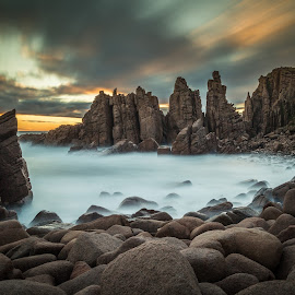 The Pinnacles by Madhujith Venkatakrishna - Landscapes Waterscapes